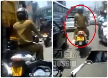 Police Constable who violates pedastrian rules