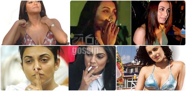 bollywood actress smoking in real life