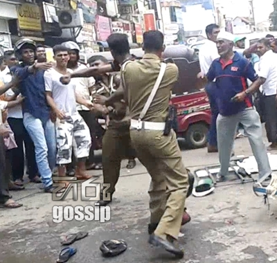 police officer attacked  in pettah