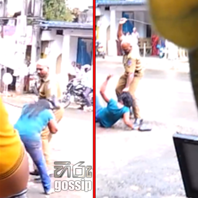 Rathnapura Bus Stand And Policeman Assaults a girl