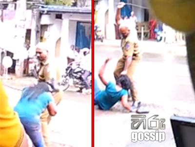 Policeman Assaults a girl in Rathnapura Bus Stand