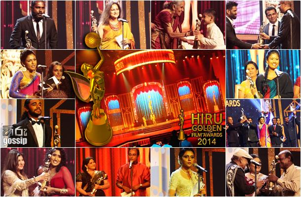 Hiru Golden Film Awards 2014 - Awards Winners