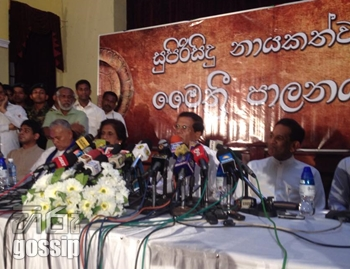 minister maithripala sirisena in press conference