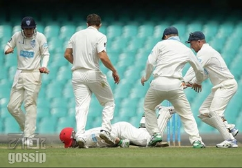 Phil Hughes Struck On Head - In Critical Condition