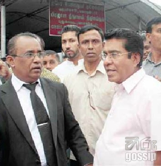 A person who protested against Minister Mervin is a son of UNP divisional politician