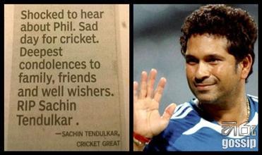 RIP Sachin Tendulkar, Times of India blunders again on Phillip Hughes death
