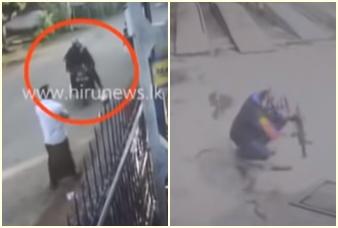 මාතර වෙළඳසැලකට පැනපු වෙඩිකරු බස්රථයකටත් වෙඩි පත්තු කර පළා ගිය හැටි  CCTV Video