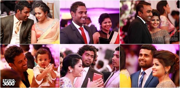 Lahiru Thirimannes Wedding Day Photos with sri lankan crickters