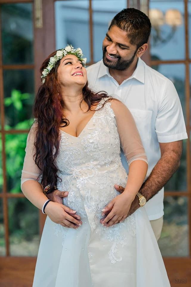 Pregnancy celebrations of cricketer Ramith Rambukwella and wife Natali