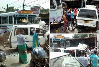 bus van collision kills 3   10 hospitalized   bus van